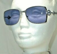 BOUCHERON SUNGLASSES BOU 25/S 010 56 55-17 135 SILVER WITH BLUE LENSES 16