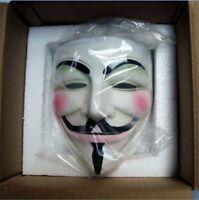 High-grade Cosplay Guy Fawkes V FOR Vendetta Anonymous Mask Halloween Resin gift