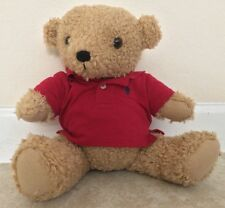 ☀�Ralph Lauren Teddy Bear Collectible Vintage Plush Stuffed Toy Red Polo Shirt B