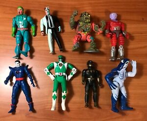 Vintage Action Figures Lot of GI Joe Power Rangers Two Face & More