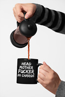 Funny Head Mother F*cker in Charge Coffee Mug, Great Boss's Day Gift, Gag Gift