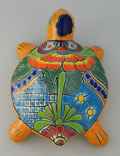 TURTLE Mexican Talavera Ceramic Wall Decor Hanging Pottery Folk Art Handmade 2