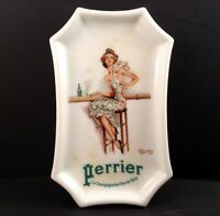 Perrier Limoges Tray Jean-Gabriel Domergue Pin Up Art Deco Thabard Porcelain