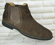 SEBAGO Drake Mens Pull On Chelsea Boots  Brown Suede Shoes Size 10.5 UK 45 EU