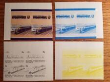 BERNERA ISLANDS Proof Stamps Train Railroad Lot MNH VF D138