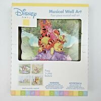Disney Baby Winnie the Pooh Musical Wall Art Nursery Press & Play Set Of 4 Decor