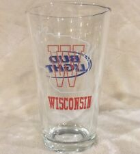 Wisconsin Badgers Bud Light Pint Glass Cup Mug Stein UW-Madison Bucky Budweiser