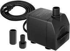 Submersible Pond Pump Filter 200 GPH Ultra Quiet Dry Burning Protection Aquarium