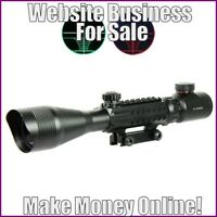 Fully Stocked RIFLESCOPES Website Business|FREE Domain|FREE Hosting|FREE Traffic
