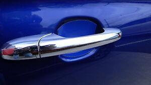 GLOSS BLUE AUTO ACCESSORY CAR DOOR HANDLE SCRATCH COVER GUARD PROTECTOR 4PK NEW