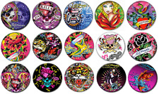 "ED HARDY - Lot of 15 Pin Back 1"" Buttons Badges (One Inch) – Set"