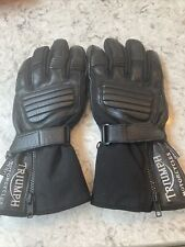 Triumph Motorcycles Black Leather Gore Tex Biker Gloves Small