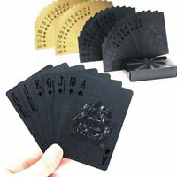 Plastic Poker Playing Cards Gold Black Color Waterproof Gift Game Couple Quality