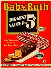 Baby Ruth Vintage Inspired Candy Bar Metal Sign