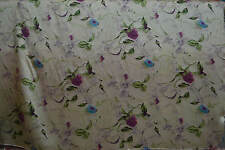 100% Pure Silk Fabric Purple Rose 45 INCHES Width Floral Printed  By Yard P038