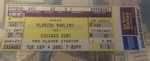 Josh Beckett Florida Marlins Debut Ticket 9/4/2001 vs Chicago Cubs Sept 4 01