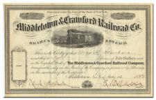 Middletown & Crawford Railroad Co. Stock Certificate (Pine Bush)