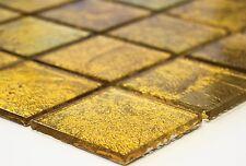 GOLD Translucent Mosaic tile GLASS WALL Bath & Kitchen Splashback -120-0746_b
