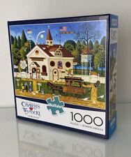 1000 Piece Jigsaw Puzzle Charles Wysocki THE BIRD HOUSE Buffalo 27 x 20 NIB