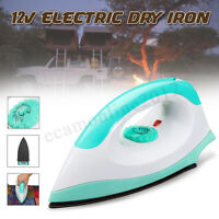 12V Portable Electric Caravan Steam Iron Clothes Steamer RV Travel Non-stick
