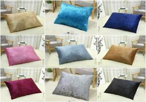 Large FILLED Crushed Velvet Cushions Indoor Outdoor Floor Cushion Pad Dog Bed