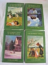 The Bobbsey Twins Laura Lee Hope Lot of 4 Books HC/DJ Country Houseboat Lodge
