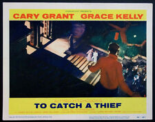 TO CATCH A THIEF ALFRED HITCHCOCK CARY GRANT ON ROOFTOP 1955 LOBBY CARD #2