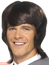 1960s Mens Brown Mod Wig Fancy Dress The Beatles Adult Costume 60s Accessory