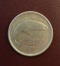 Old Irish Silver Florin Ireland Salmon Coin Available Dates 1928 - 1942