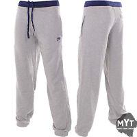 New Nike Mens Fleece Tracksuit Jogging Track Pants Charcoal Black Nike Printed