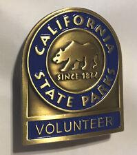 California State Parks -  Volunteer Badge - blue enamel version