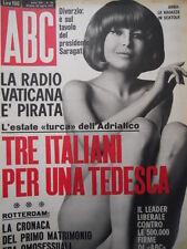 ABC rivista erotico politica n°30 1967  [C55]