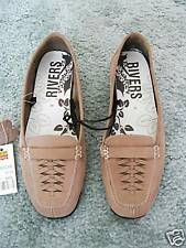 RIVERS  WOMENS  LEATHER  SHOES  SZ 10  MOCCA   BNWT
