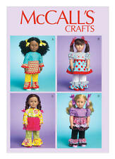 """McCall's Sewing Pattern M7173 Dolls Clothes Ruffled Dress Top Pants18 """""""