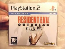 RARE Resident Evil Outbreak File #2 Ps2 Playstation 2 Promo Version - PAL Capcom