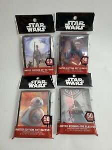 Star Wars Card Sleeves Limited Edition 4 Packs total of 200 Sleeves
