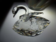 Beautiful Vintage Swarovski Silver Crystal Swan Mark Signed 2 1/2 Inches