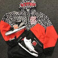 Jacket Match Jordan 3 Black Cement Tinker Hatfield  - Windbreaker