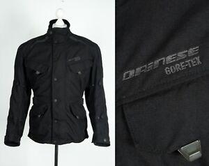 Dainese Men's Gore-Tex Black Cordura Motorcycle Bike Jacket W Protection Size 50
