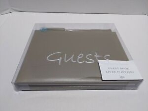 Victoria Lynn Wedding  Reception Graduation Funeral color: Taupe Guest Book 60pg