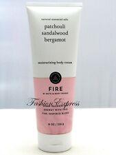 Bath & Body Works Fire Patchouli Sandalwood Bergamot Body Cream 8 Oz