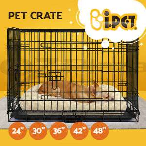 """i.Pet Dog Cage Crate Kennel Fence Cat Rabbit Collapsible Metal Playpen 24"""" - 48"""""""