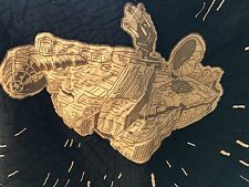 Pottery Barn Kids Star Wars Millennium Falcon Quilt Navy & Gray Rounded Corners