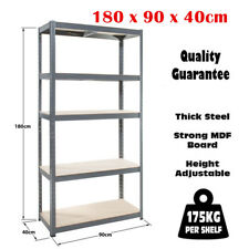 5 Tier Heavy Duty Boltless Metal Shelving Shelves Storage Unit Garage Home