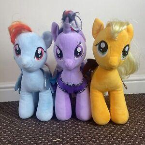 My Little Pony Build A Bear Bundle BAB - Rainbow Dash Twilight Sparkle Applejack