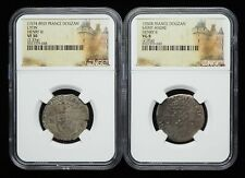 NGC Certified Lot of 2 - FRANCE. Henry II and Henry III Billon Douzain, VF30 +