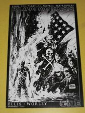 BLACKCROSS PROJECT SUPERPOWERS #1 DYNAMITE COMICS BLACK WHITE VARIANT