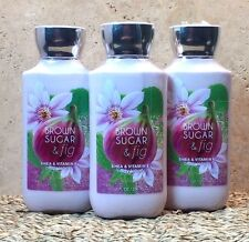 3 BATH AND BODY WORKS BROWN SUGAR AND FIG LOTION CREAM NEW SET GIFT SEALED!!!!