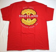 NCAA Maryland Terrapins Faux Pocket Short Sleeve Red XL X-Large New NWT