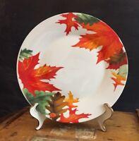 """Royal Norfolk Autumn Leaves & Acorns 10.5"""" Porcelain Dinner Plates"""